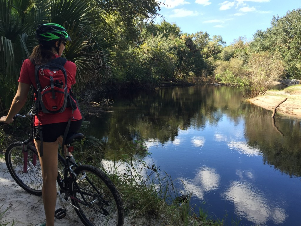 mountain biking peddle and paddle