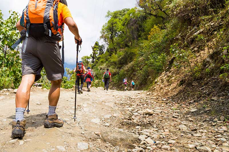 hiking trekking